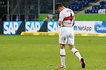 Marc Oliver Kempf (VfB, 4), enttäuscht schauend, Enttäuschung, Frustration, disappointed, pessimistisch, nach dem Gegentor zum 3:2, Action, Aktion, Spielszene, 21.11.2020, Sinsheim  (Deutschland), Fussball, Bundesliga, TSG 1899 Hoffenheim - VfB Stuttgart, DFB/DFL REGULATIONS PROHIBIT ANY USE OF PHOTOGRAPHS AS IMAGE SEQUENCES AND/OR QUASI-VIDEO. <br /> <br /> Foto © PIX-Sportfotos *** Foto ist honorarpflichtig! *** Auf Anfrage in hoeherer Qualitaet/Aufloesung. Belegexemplar erbeten. Veroeffentlichung ausschliesslich fuer journalistisch-publizistische Zwecke. For editorial use only.