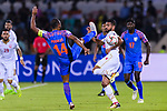 Pronay Halder of India (L) fights for the ball with Sayed Dhiya Saeed of Bahrain (LR) during the AFC Asian Cup UAE 2019 Group A match between India (IND) and Bahrain (BHR) at Sharjah Stadium on 14 January 2019 in Sharjah, United Arab Emirates. Photo by Marcio Rodrigo Machado / Power Sport Images