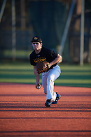 Brock Reid (21), from Chandlerville, Illinois, while playing for the Pirates during the Baseball Factory Pirate City Christmas Camp & Tournament on December 30, 2017 at Pirate City in Bradenton, Florida.  (Mike Janes/Four Seam Images)