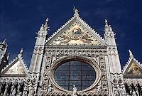 Siena:  Duomo--upper facade.  The mosaics, 1887.