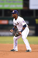 Binghamton Mets second baseman Dilson Herrera (20) during a game against the Bowie Baysox on August 3, 2014 at NYSEG Stadium in Binghamton, New York.  Bowie defeated Binghamton 8-2.  (Mike Janes/Four Seam Images)