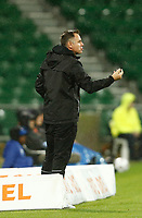 23rd May 2021; HBF Park, Perth, Western Australia, Australia; A League Football, Perth Glory versus Macarthur; Ante Milicic head coach of Macarthur FC gives instructions to his players