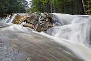 Falls on Jackman Brook in North Woodstock, New Hampshire during the spring months.
