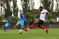 Ayotimiwa Bolarinwa of Lewes scores the first goal for his team during Wingate & Finchley vs Lewes, Pitching In Isthmian League Premier Division Football at the Maurice Rebak Stadium on 3rd October 2020