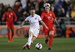 Lucy Bronze of England and Sophie Schmidt of Canada