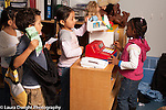 Preschool 3-4 year olds group of children playing store