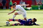 Jade Moore (ENG), Mizuho Sakaguchi (JPN), JULY 1, 2015 - Football / Soccer : FIFA Women's World Cup Canada 2015 Semi-final match between Japan 2-1 England at Commonwealth Stadium in Edmonton, Canada. (Photo by AFLO)