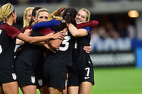 Minneapolis, MN - October 23, 2016: The U.S. Women's National team go on to defeat Switzerland 5-1 with Kealia Ohai adding a goal during an international friendly game at U.S. Bank Stadium.