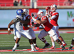 Southern Methodist Mustangs offensive linesman BLAKE MCJUNKIN(63) and Southern Methodist Mustangs offensive linesman BRYAN COLLINS (67) in action during the game between the Memphis Tigers and the Southern Methodist Mustangs at the Gerald J. Ford Stadium in Dallas, Texas. Memphis defeats SMU 48 to 3...