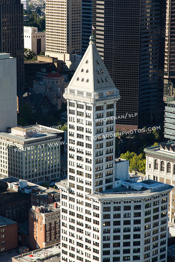 At 35 stories and 469 feet, Seattle's 100-year-old Smith Tower opened in 1914 as the tallest building west of the Mississippi River but is now dwarfed by newer downtown buildings