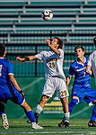 26 October 2019: University of Vermont Catamount Forward JoJo Moulton-Condiotti, a Freshman from Brooklyn, NY, in first half action against the University of Massachusetts Lowell River Hawks at Virtue Field in Burlington, Vermont. The Catamounts rallied to defeat the River Hawks 2-1, propelling the Cats to the America East Division 1 conference playoffs. Mandatory Credit: Ed Wolfstein Photo *** RAW (NEF) Image File Available ***
