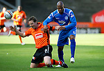 Dundee Utd v St Johnstone...25.09.10  .John Daly and Michael Duberry.Picture by Graeme Hart..Copyright Perthshire Picture Agency.Tel: 01738 623350  Mobile: 07990 594431