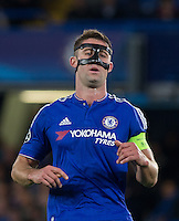 Captain Gary Cahill of Chelsea during the UEFA Champions League match between Chelsea and Maccabi Tel Aviv at Stamford Bridge, London, England on 16 September 2015. Photo by Andy Rowland.
