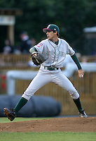 August 25, 2003:  Brandon Mann of the Hudson Valley Renegades, Class-A affiliate of the Tampa Bay Devil Rays, during a NY-Penn League game at Bowman Field in Williamsport, PA.  Photo by:  Mike Janes/Four Seam Images