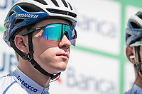 pre-race favourite at 20 in his first Monument Classic ever; Remco Evenepoel (BEL/Deceuninck-Quickstep) takes it all in stride at the start in Bergamo<br /> <br /> 114th Il Lombardia 2020 (1.UWT)<br /> 1 day race from Bergamo to Como (ITA/231km) <br /> <br /> ©kramon