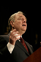 May 10, 2004 File photo -<br /> <br /> Canadian Prime Minister Paul Martin speak in Montreal, <br /> <br /> Photo :  Pierre Roussel / Images Distribution