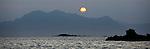 Moonrise in Prince William Sound. Alaska. U.S.A.