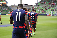 AUSTIN, TX - JULY 29: Daryl Dike #11 of the United States during walkout during a game between Qatar and USMNT at Q2 Stadium on July 29, 2021 in Austin, Texas.