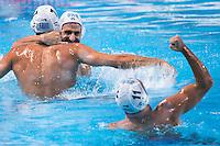 Celebration players GREECE bronze medal<br /> GREECE vs ITALY<br /> GRE vs ITA<br /> Waterpolo - Men's 3rd-4th place <br /> Day 16 08/08/2015<br /> XVI FINA World Championships Aquatics Swimming<br /> Kazan Tatarstan RUS July 24 - Aug 9 2015 <br /> Photo Giorgio Perottino/Deepbluemedia/Insidefoto