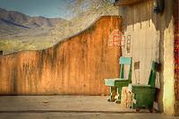A lazy old west veranda in Old Tucson - Arizona.