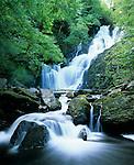 Ireland, County Kerry, near Killarney, Killarney National Park: Torc waterfall   Irland, County Kerry, bei Killarney, Killarney National Park: Torc Wasserfall