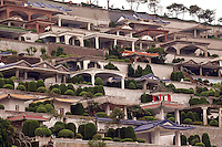 The general view of Jinbaoshan Cemetery in Taipei, Taiwan..26 May 2005