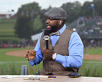 DYERSVILLE, IOWA - AUGUST 12: Fox MLB Pregame broadcaster David Ortiz at the Fox broadcast of the MLB Field of Dreams game on August 12, 2021 in Dyersville, Iowa. (Photo by Frank Micelotta/Fox Sports/PictureGroup)