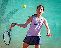 Hilversum, Netherlands, August 6, 2018, National Junior Championships, NJK, Una Naumovski (NED)<br /> Photo: Tennisimages/Henk Koster