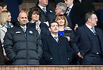 St Johnstone v Aberdeen...13.04.14    William Hill Scottish Cup Semi-Final, Ibrox<br /> St Johnstone Chairman Steve Brown (centre) looks to the skies before kick off, flanked by Director Charlie Fraser (left) and Roddy Grant<br /> Picture by Graeme Hart.<br /> Copyright Perthshire Picture Agency<br /> Tel: 01738 623350  Mobile: 07990 594431