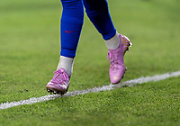 CARSON, CA - FEBRUARY 7: Megan Rapinoe #15 of the United States runs in her one of a kind shoes celebrating her Ballon d'Or win during a game between Mexico and USWNT at Dignity Health Sports Park on February 7, 2020 in Carson, California.