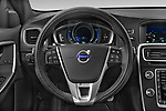 Car pictures of steering wheel view of a 2017 Volvo V60 T6-R-Design 5 Door Wagon Steering Wheel