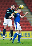 St Johnstone v Dundee…02.10.21  McDiarmid Park.    SPFL<br />Paul McMulland and Liam Craig<br />Picture by Graeme Hart.<br />Copyright Perthshire Picture Agency<br />Tel: 01738 623350  Mobile: 07990 594431