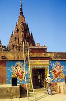 India. Varanasi/Benares/Kasha. Monkey Temple. Sankat-Mochan, shrine to the monkey god Hanuman..