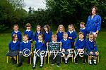 Scoil Nuachabháil NS junior infants on Monday, with Cathy Dunne (Class Teacher)