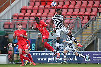 Ousseynou Cissé of Leyton Orient and Jamille Matt of Forest Green Rovers during Leyton Orient vs Forest Green Rovers, Sky Bet EFL League 2 Football at The Breyer Group Stadium on 23rd January 2021