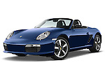 Low aggressive front three quarter blue 2008 Porsche Boxster LE