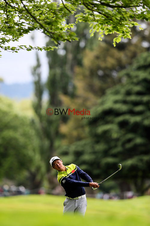 Andy Zhang of China during the Asia Pacific Amateur Golf Championship Round Four, Royal Wellington Golf Course, Wellington, New Zealand, 29 October2017.  Photo: Simon Watts/www.bwmedia.co.nz