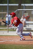 St. Louis Cardinals Ivan Herrera (23) during a Minor League Spring Training game against the Miami Marlins on March 26, 2018 at the Roger Dean Stadium Complex in Jupiter, Florida.  (Mike Janes/Four Seam Images)
