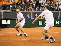 September 13, 2014, Netherlands, Amsterdam, Ziggo Dome, Davis Cup Netherlands-Croatia, Doubles, Haase/Rojer<br /> Photo: Tennisimages/Henk Koster