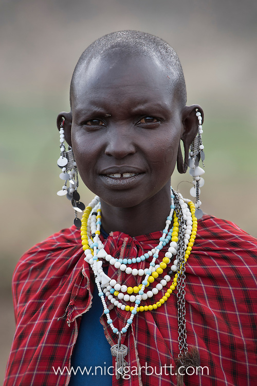 Maasai woman in village near Ol Karien Gorge, Ngorongoro Conservation Area, Tanzania.