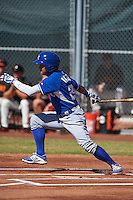 Kansas City Royals Cristhian Vasquez (28) during an instructional league game against the San Francisco Giants on October 22, 2015 at the Giants Baseball Complex in Scottsdale, Arizona.  (Mike Janes/Four Seam Images)