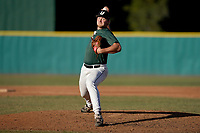 Kevin Davis (35) of the University of South Carolina Upstate Spartans delivers a pitch in an intrasquad scrimmage during fall practice on Saturday, October 3, 2020, at Cleveland S. Harley Park in Spartanburg, South Carolina. (Tom Priddy/Four Seam Images)