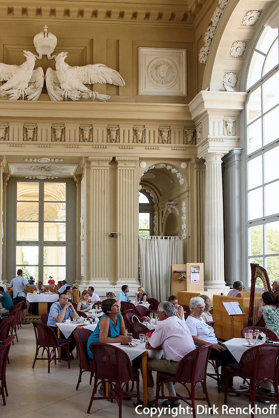Café in der Gloriette, spätbarocke Sommerresidenz Schloss Schönbrunn, Wien, Österreich, UNESCO-Weltkulturerbe<br /> Café in Gloriette,  late Baroque summerresidence Schloss Schönbrunn, Vienna, Austria, world heritage
