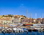 Italien, Toskana, Insel Elba, Portoferraio: Yacht- und Faehrhafen | Italy, Tuscany, island Elba: view at Portoferraio