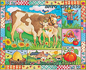 Alfredo, CUTE ANIMALS, LUSTIGE TIERE, ANIMALITOS DIVERTIDOS, paintings+++++,BRTOCH27659,#ac#, EVERYDAY ,collage,collages, .cow,cows