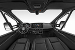 Stock photo of straight dashboard view of 2019 Mercedes Benz Sprinter-Box-Van - 2 Door Chassis Cab Dashboard