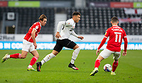 7th November 2020; Pride Park, Derby, East Midlands; English Football League Championship Football, Derby County versus Barnsley; Lee Buchanan of Derby County running with the ball past Conor Chaplin of Barnsley