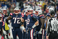 FOXBORO, MA - OCTOBER 10: New England Patriots Quarterback Tom Brady (12) reacts to a missed catch during a game between New York Giants and New England Patriots at Gillettes on October 10, 2019 in Foxboro, Massachusetts.