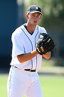 Detroit Tigers minor league pitcher Kyle Ryan (34) vs. the Philadelphia Phillies during an Instructional League game at Tiger Town in Lakeland, Florida;  October 13, 2010.  Photo By Mike Janes/Four Seam Images