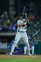 Jordan George (12) of the Winston-Salem Dash at bat against the Myrtle Beach Pelicans at TicketReturn.com Field on May 16, 2019 in Myrtle Beach, South Carolina. The Dash defeated the Pelicans 6-0. (Brian Westerholt/Four Seam Images)